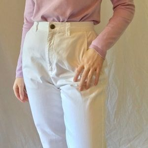 white high waisted liz claiborne jeans